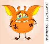 cute cartoon monster. vector ... | Shutterstock .eps vector #1167688246