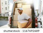 courier delivery service. man... | Shutterstock . vector #1167692689