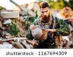 army rangers with assault... | Shutterstock . vector #1167694309