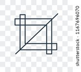 crop tool vector icon isolated...   Shutterstock .eps vector #1167696070