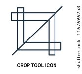crop tool icon vector isolated... | Shutterstock .eps vector #1167696253