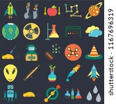 set of 25 icons such as drops ...