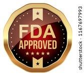 fda approved. vector badge. | Shutterstock .eps vector #1167697993