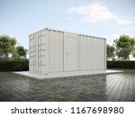 white container house 3d render. | Shutterstock . vector #1167698980