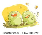 laughter is contagious | Shutterstock .eps vector #1167701899