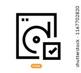 hard drive vector icon.... | Shutterstock .eps vector #1167702820