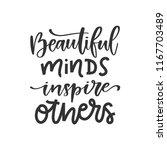vector hand drawn quote  ... | Shutterstock .eps vector #1167703489
