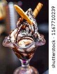 vanilla ice cream chocolate... | Shutterstock . vector #1167710239