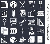 set of 25 icons such as exam ...