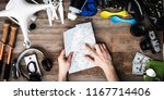 planning where to travel with...   Shutterstock . vector #1167714406