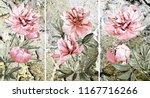 collection of designer oil... | Shutterstock . vector #1167716266
