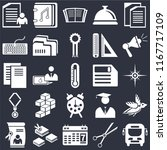 set of 25 icons such as bus ...