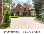 large cobbled driveway in front ...   Shutterstock . vector #1167717316