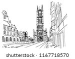 vector sketch of  the saint... | Shutterstock .eps vector #1167718570