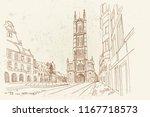 vector sketch of  the saint... | Shutterstock .eps vector #1167718573