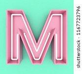 pink neon sign text 3d render | Shutterstock . vector #1167723796