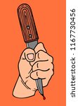 bloody murder with knife  t... | Shutterstock .eps vector #1167730456