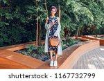 full height image of   black... | Shutterstock . vector #1167732799