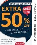 extra sale flyer template | Shutterstock .eps vector #1167734470