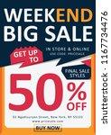 extra sale flyer template | Shutterstock .eps vector #1167734476