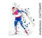 biathlon racing  polygonal... | Shutterstock .eps vector #1167736699