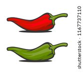 red and green mexican jalapeno...   Shutterstock .eps vector #1167737110