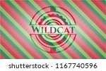 wildcat christmas colors style... | Shutterstock .eps vector #1167740596