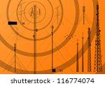 telecommunications tower  radio ...   Shutterstock .eps vector #116774074