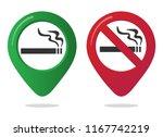 no smoking and smoking area... | Shutterstock .eps vector #1167742219