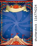 circus night poster. a blue... | Shutterstock .eps vector #116774224