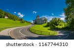 winding road leading up to...   Shutterstock . vector #1167744310
