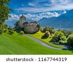 schloss vaduz castle ... | Shutterstock . vector #1167744319