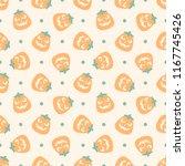 seamless vector pattern on... | Shutterstock .eps vector #1167745426