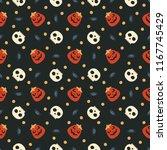seamless vector pattern on... | Shutterstock .eps vector #1167745429