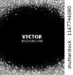sparkling glitter border  frame.... | Shutterstock .eps vector #1167746080