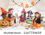 group of funny  children in... | Shutterstock . vector #1167754639