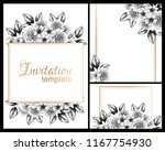 invitation greeting card with... | Shutterstock .eps vector #1167754930