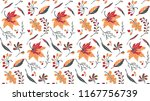 autumn leaves in cartoon style. ... | Shutterstock .eps vector #1167756739