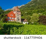 rotes haus red house  vaduz ... | Shutterstock . vector #1167759406