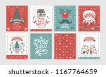 a set of posters or postcards... | Shutterstock .eps vector #1167764659