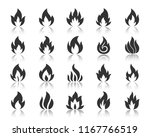 fire silhouette icons set.... | Shutterstock .eps vector #1167766519