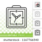 alarm clock thin line icon....   Shutterstock .eps vector #1167766540