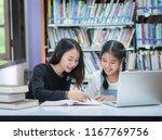 teacher and student asia...   Shutterstock . vector #1167769756