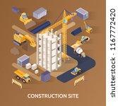 construction building site... | Shutterstock .eps vector #1167772420