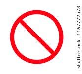 no parking sign.do not enter... | Shutterstock .eps vector #1167772573