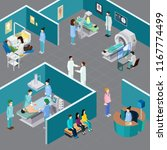 medical equipment isometric... | Shutterstock .eps vector #1167774499