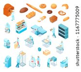 isometric bakery icons set with ... | Shutterstock .eps vector #1167775009