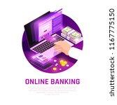 online banking app with user... | Shutterstock .eps vector #1167775150