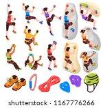 isometric climbing wall... | Shutterstock .eps vector #1167776266