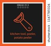 kitchen tool  peeler  potato... | Shutterstock .eps vector #1167785326